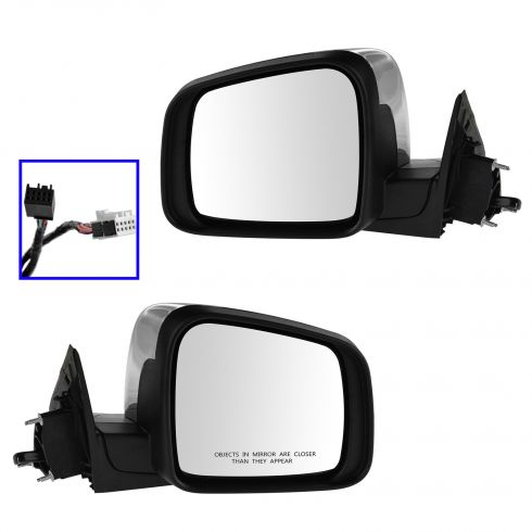 11-13 Jeep Grand Cherokee Pwer, Htd, w/Memory, Turn Signal, Blind Spot Indicator Chrome Cvr Mir PAIR