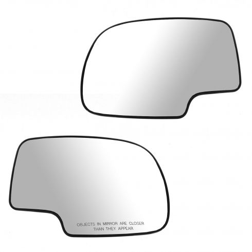 99-02 GM Full Size PU, SUV Power Mirror Glass (w/3 15/16 Diag) w/Backing Plate PAIR