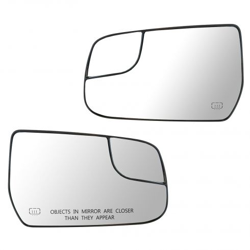 12-13 Chevy Equinox, GMC Terrain Power Heated Mirror Glass w/Backing Plate PAIR