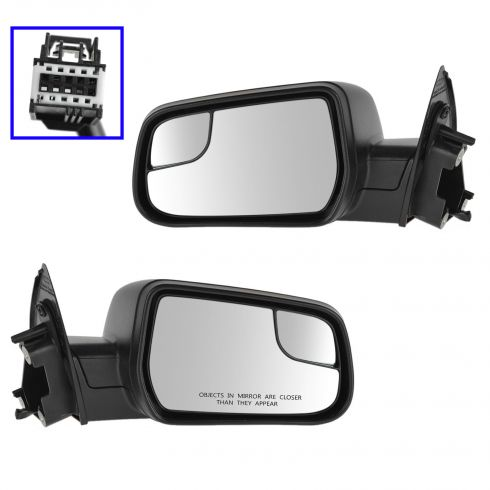 12-14 Chevy Equinox, GMC Terrain Power, Heated Mirror w/Heated Convex Insert & PTM Cover PAIR