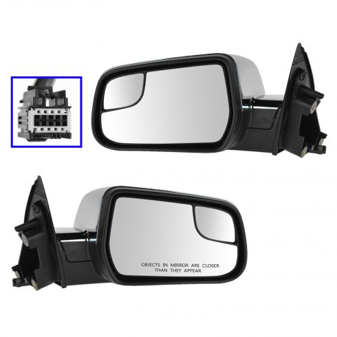 10-14 Chevy Equinox, Terrain Power, Heated, w/Memory Mirror w/Heated Convex Insert & Chrome Cvr PAIR