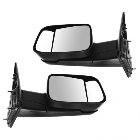 02-08 Ram 1500; 03-09 Ram 2500; 03-10 Ram 3500 Man Tow (09 Upgrade Style Dual Glass) Txt Mirror PAIR