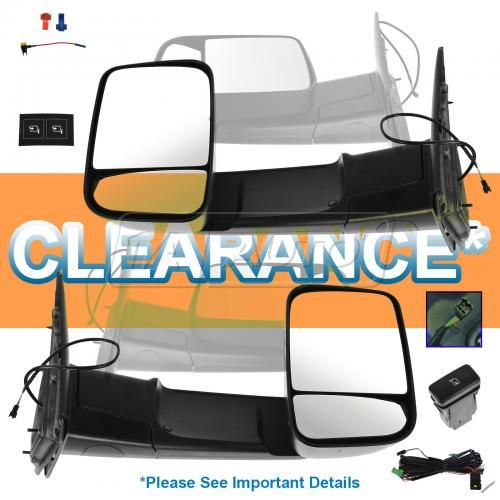 02-08 Ram 1500; 03-09 2500; 03-10 3500 Power Folding Mn Tow (09 Upgrade Style Dual Glass) Txt Mir PR
