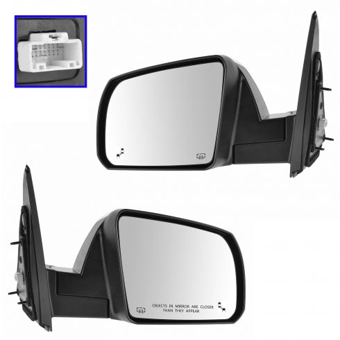 14-15 Toyota Tundra (w/Lane Change Assist) Power, Heated w/Chrome Cap Mirror PAIR