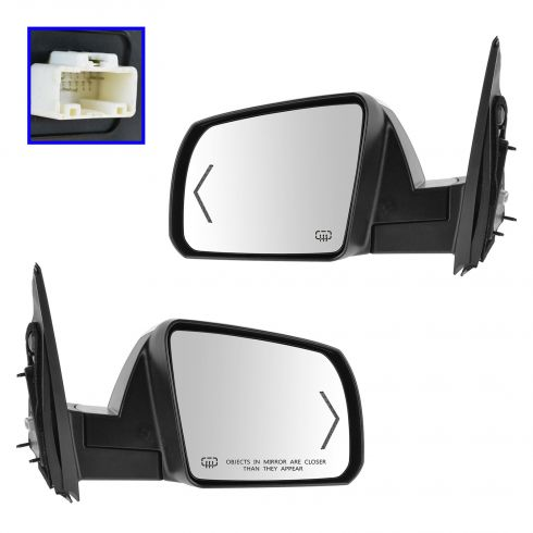14-15 Toyota Tundra Powr Folding, Memory, Heated, Puddle Light, Turn Signal w/Chrome Cap Mirror PAIR