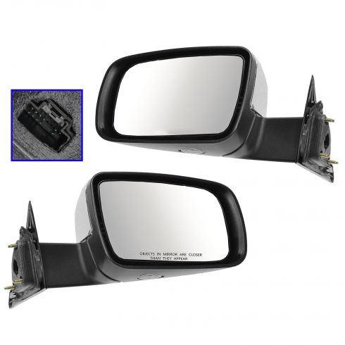 05-07 Ford 500, Mercury Montego Power, Heated, Memory w/Puddle Lamp w/Chrome Cap Mirror PAIR