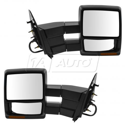 03-10 Expedition Pwr Htd w/Pud Light, Mem, Turn S Dual Arm Towing Text Blk Cap Mirror (Upgrade) PAIR