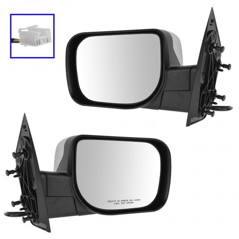 04-14 Nissan Armada; 04-05 Infiniti QX56; 04-09 Titan Power w/Chrome Cap Mirror PAIR