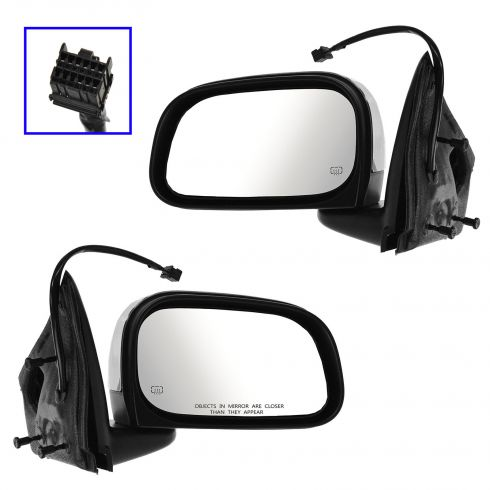 07-09 Chrysler Aspen Power Heated Memory Chrome Cap Mirror PAIR