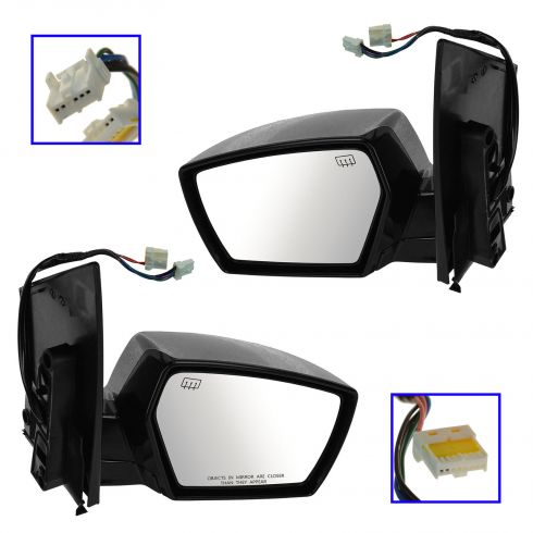 06-07 Nissan Quest Power Heated Puddle Light PTM Mirror PAIR