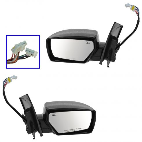 04-09 Nissan Quest Power Heated Memory Puddle Light PTM Mirror PAIR