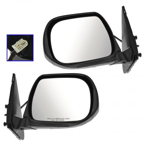 08-13 Toyota Highlander Power Heated Puddle Light PTM Mirror PAIR