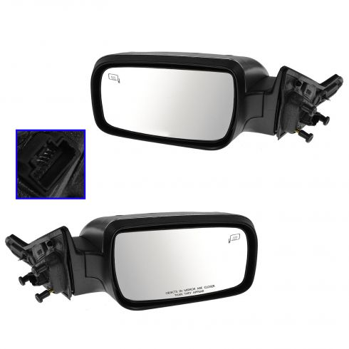 08-09 Mercury Sable Power Heated Memory Puddle Light Satin Chrome Mirror PAIR