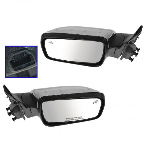 08-09 Taurus, Sable Power Heated Memory Puddle Light Chrome Cap Mirror PAIR