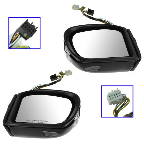 07-09 Mercedes W211 E-Class Power Heated Memory Signal Mirror PAIR