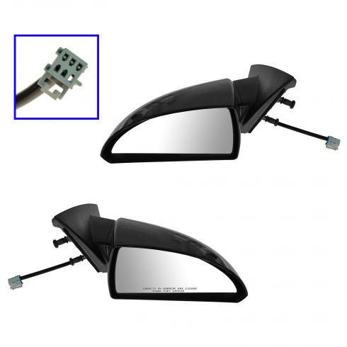 07-13 Chevy Impala Power PTM Textured Base Mirror PAIR