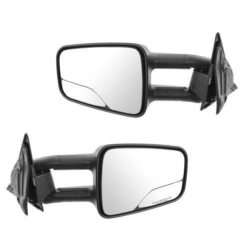 94-04 GM Mid Size Pu; 95-05 GM Mid Size SUV Man Telescoping Dual Arm/Glass Tow Mirror (Upgrade) PAIR