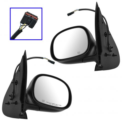 97-02 Ford Expedition Power Heated Textured Mirror PAIR