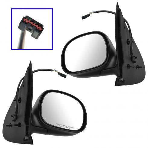 97-02 Ford Expedition Power Textured Mirror PAIR