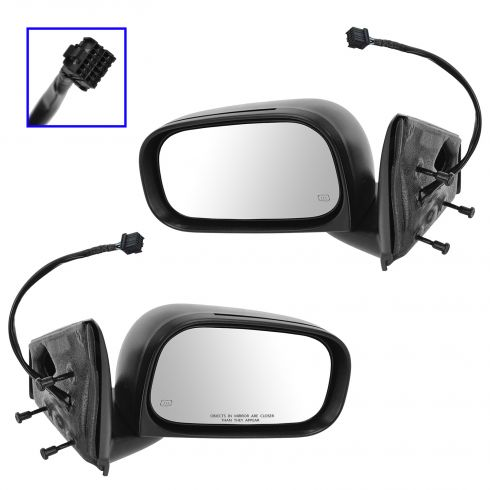 04-09 Dodge Durango Power Heated Memory Mirror PAIR