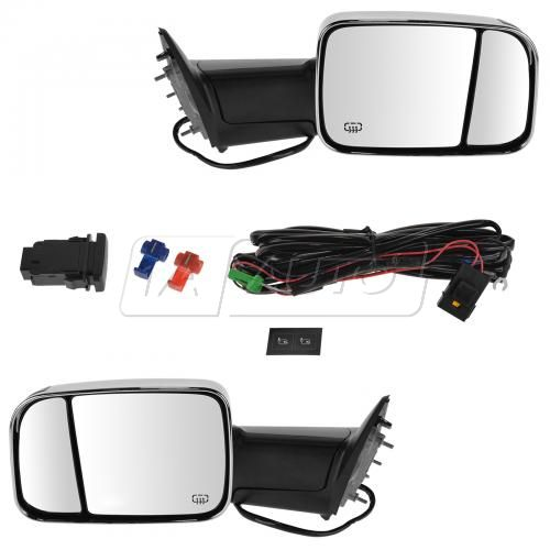 13-15 Ram 1500 Power Folding Htd Pud Light TurnSign Temp Sensor Chrm Upgrd Tow (Flip Up) Mir PR Kit