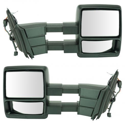 11-15 Exptn, 11-14 Nav Pwr Htd w/Puddle Light Dual Arm Towing Text Blk Cap Mirror (Upgrade) PAIR