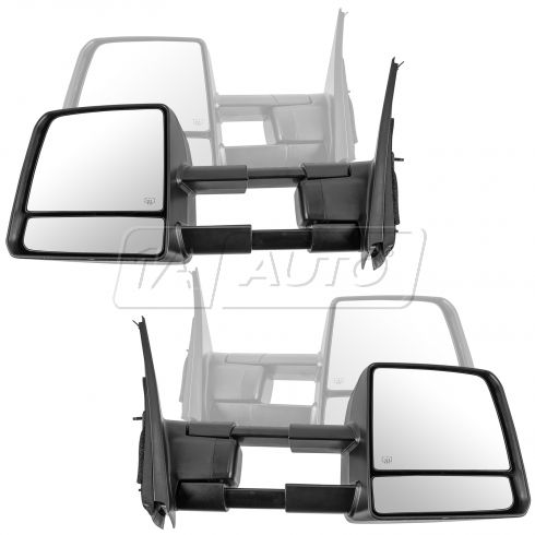 07-15 Tundra; 08-15 Sequoia Pwr Fld, Htd w/Trn Signal & Clearance Light Txt Black Towing Mirror PAIR
