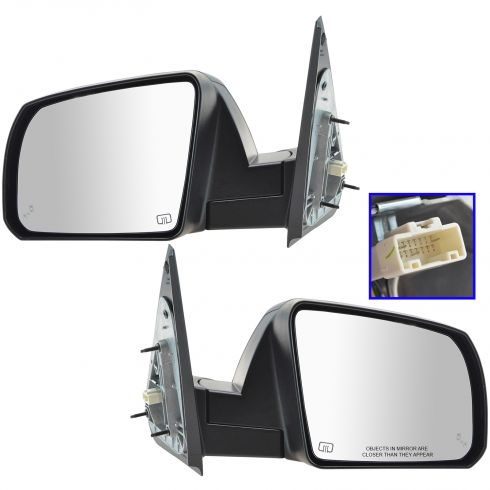 14-16 Toyota Tundra Power, Heated (w/Blind Spot Indicator) PTM Cap Mirror PAIR
