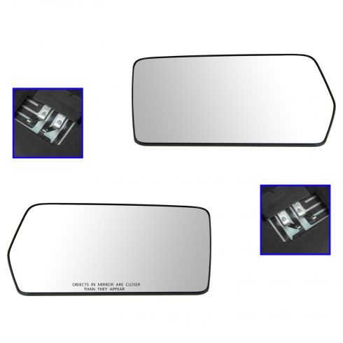 04-10 Ford F150 (New Body); 06-08 Mark LT (Non Tow) Power Heated Mirror Glass w/Backing Pair (Ford)