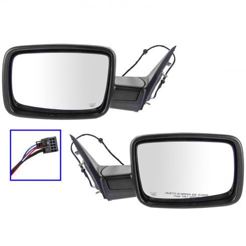 13-15 Ram 1500, 2500, 3500 Power Folding, Heated Textured Black Mirror PAIR (Mopar)