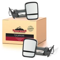 03-07 Silverado Sierra Power Heated Textured Black Tow Mirror Pair (Trail Ridge)
