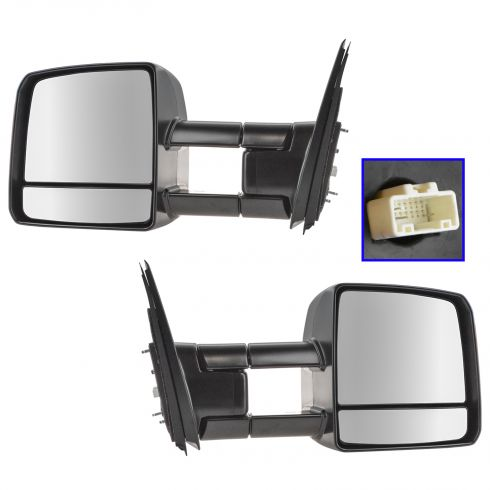 07-15 Toyota Tundra Pwr, Htd, Dual Arm, Dual Glass, TS on Hsg, Man Extending Tow Mirror PR (Toyota)