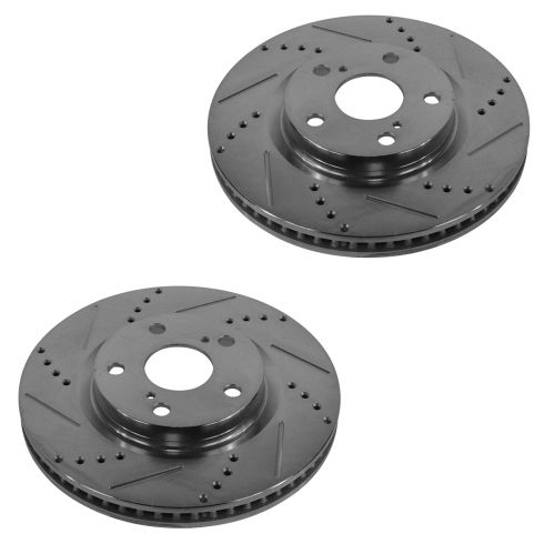 07-13 ES350; 09-10 Vide; 07-13 Camry; Rav4 Front Performance Disc Brake Rotor Pair