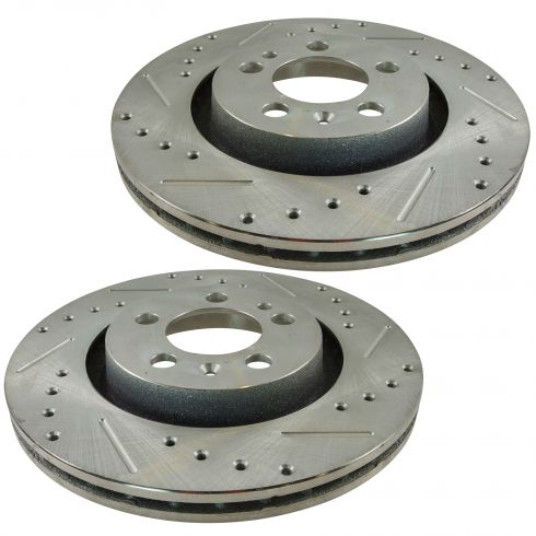 98-10 VW Beetle; 99-10 Golf, Jetta Front Performance Disc Brake Rotor Pair