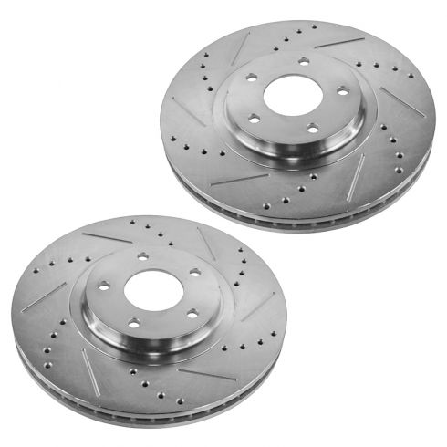 03-11 Infiniti; 04-12 Nissan Multifit Front Performance Disc Brake Rotor Pair