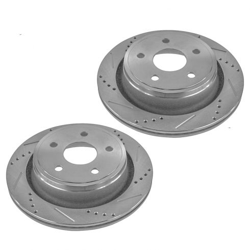 07-09 Aspen; 04-09 Durango; 02-10 Ram 1500 Rear Performance Disc Brake Rotor Pair