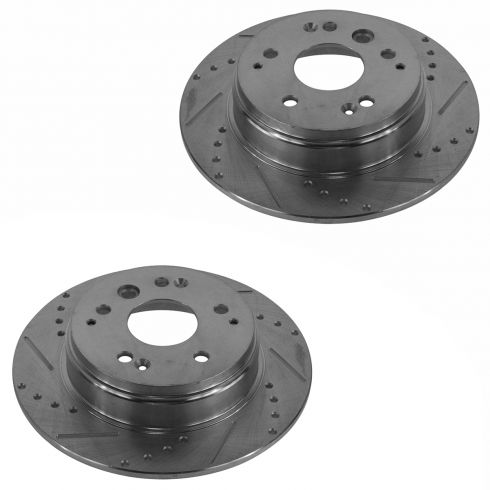 03-10 Honda Element; 07-08 TL Rear Performance Disc Brake Rotor Pair