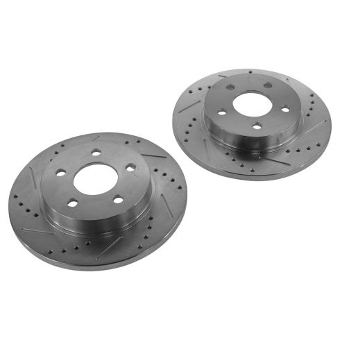 04-12 GM Fwd Rear Performance Disc Brake Rotor Pair