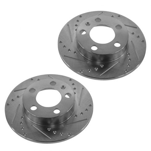 00-06 TT; 01-10 VW Multifit Rear Performance Disc Brake Rotor Pair