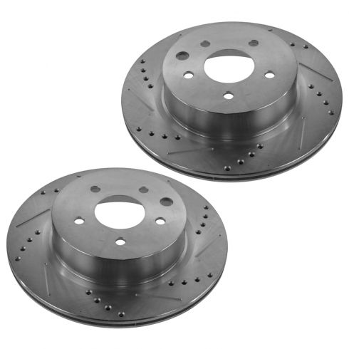 06-13 Nissan 350Z/370Z; Infiniti Multifit Rear Performance Disc Brake Rotor Pair