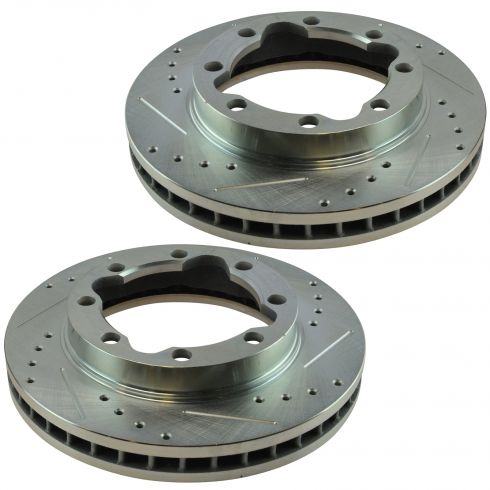 88-00 GM K3500; 94-99 Ram 2500, 3500 Front Performance Disc Brake Rotor Pair