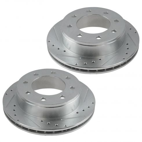 01-13 Chevy Truck SUV Rear Performance Disc Brake Rotor Pair