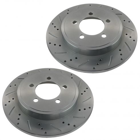 03-07 Liberty; 03-06 Wrangler Performance Disc Brake Rear Rotor Pair