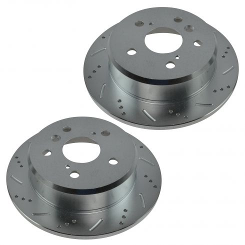05-07 Avalon; 02-08 Camry ES300 ES330 Solara Rear Performance Brake Rotor Pair