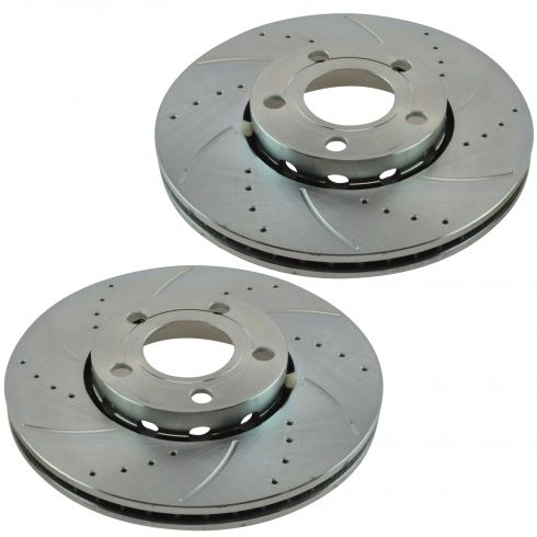 96-06 A4; 95-01 A6; 02-03 S6; 98-05 Passat Front Performace Brake Rotor Pair