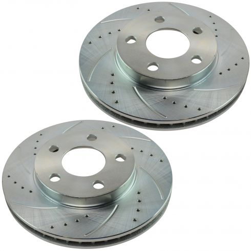 97-03 Malibu 97-99 Cutlass 99-05 Grand Am Front Performance Brake Rotor Pair