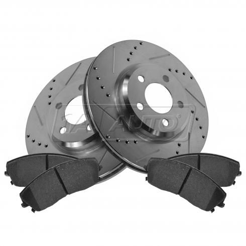 Front Performance Rotor & Posi Ceramic Pad Kit 05-10 300; 09-13 Challenger