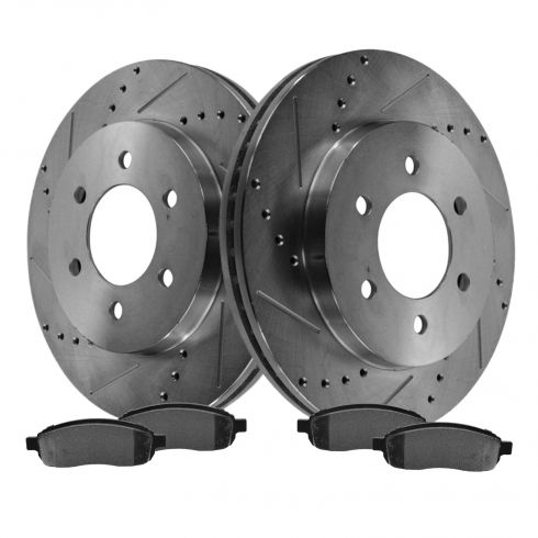 Front Performance Rotor & Posi Metallic Pad Kit 04-08 Ford F150