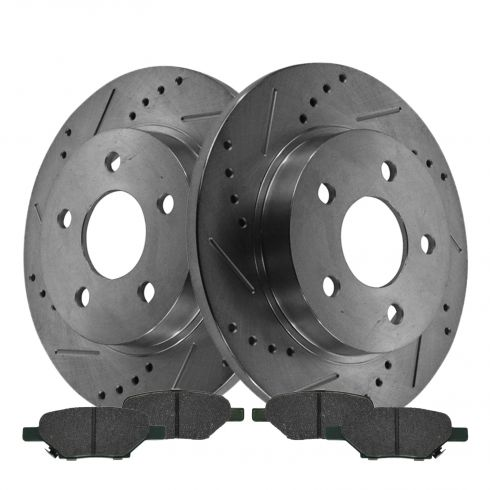 Rear Performance Rotor & Posi Ceramic Pad Kit 04-12 Gm FWD