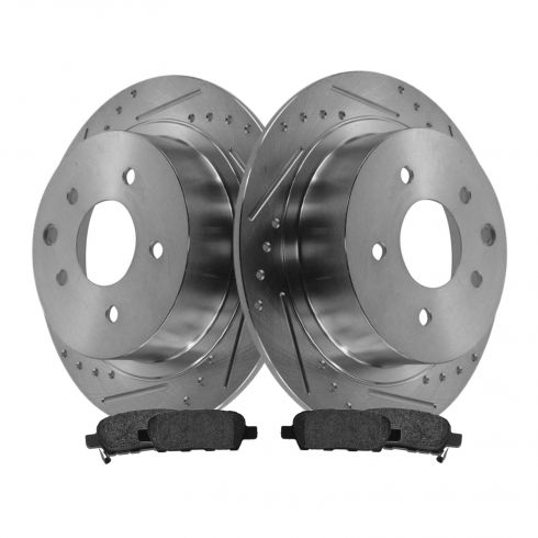 Rear Performance Rotor & Posi Metallic Pad Kit 07-12 Nissan Altima